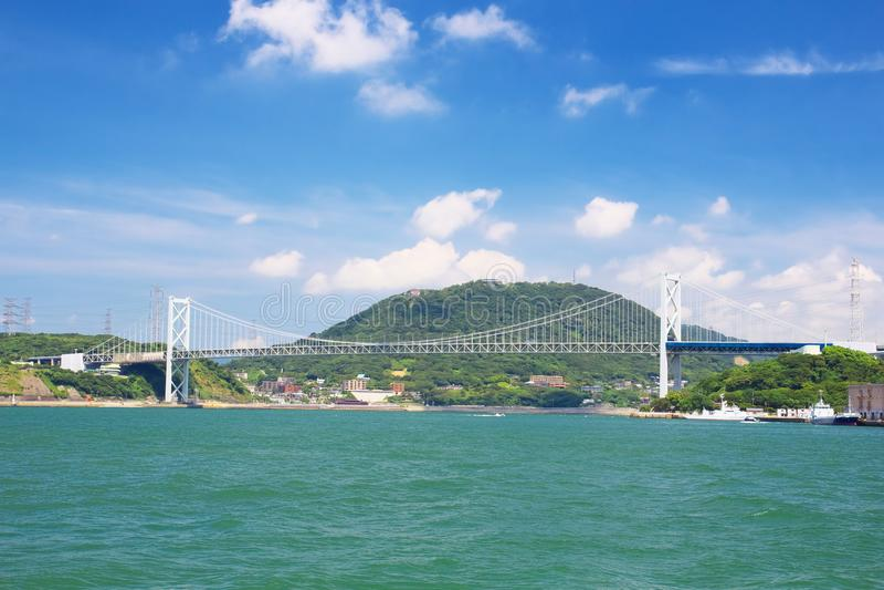 Kanmonkyo桥梁 库存图片