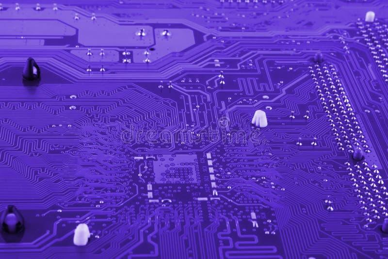 Kann als Hintergrund verwenden ElektronenrechenanlageGerätetechnik Digitaler Chip des Motherboards Technologiewissenschaftshinter stockfoto