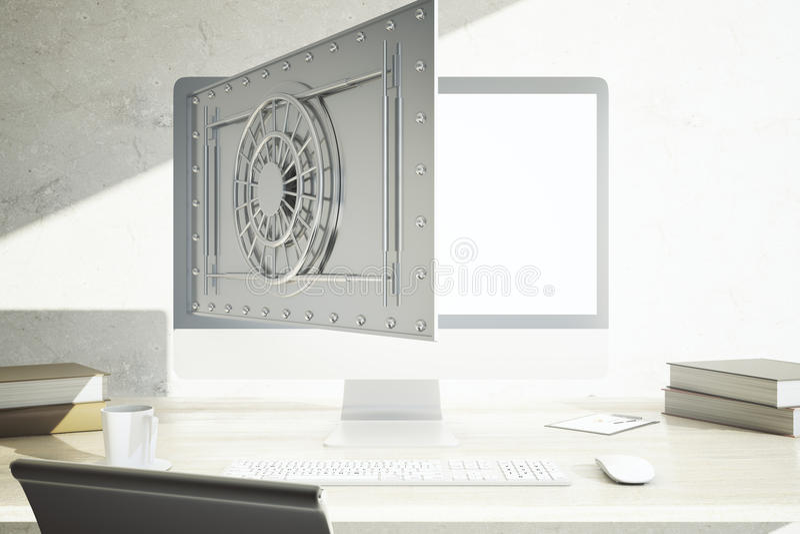 Kann Kosten Computer, Kosten Problemcomputer oder Onlinebankverkehr usw vektor abbildung