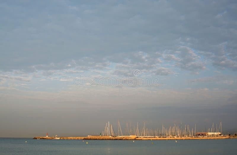 Kann Pastilla-Jachthafen an der Dämmerung stockfoto
