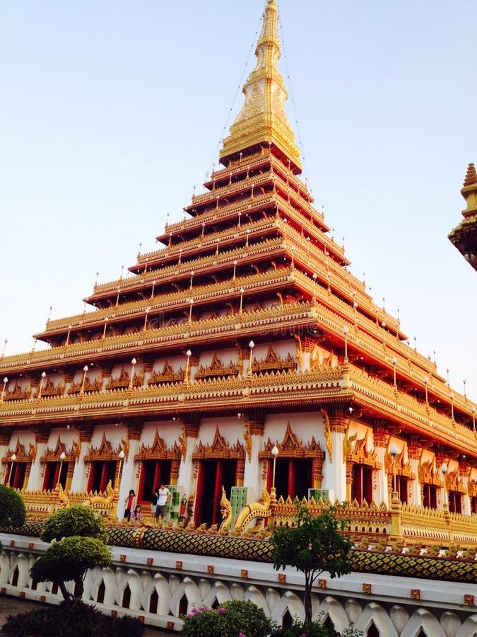 Kannakhon tempel, Thailand royaltyfri foto