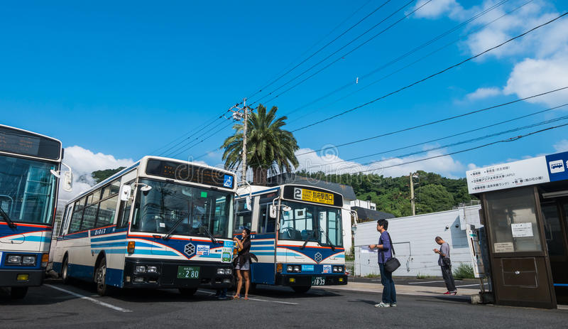 Kannawa公共汽车总站 库存图片