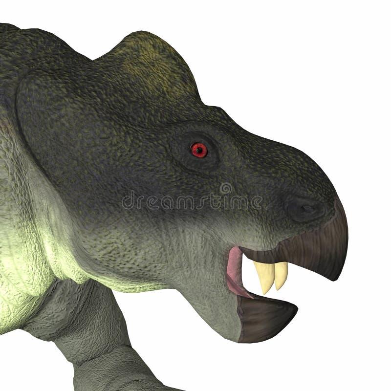 Kannemeyeria dinosaura głowa ilustracja wektor