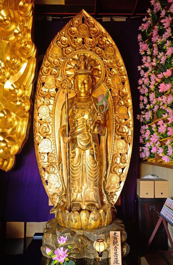 Free Kannon Bodhisattva At Hase Dera Kannon Buddhist Temple, Kamakura Royalty Free Stock Photo - 103872555