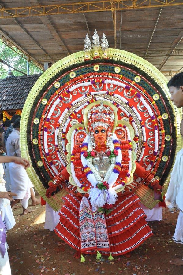 Kannur Theyyam民间艺术  库存照片