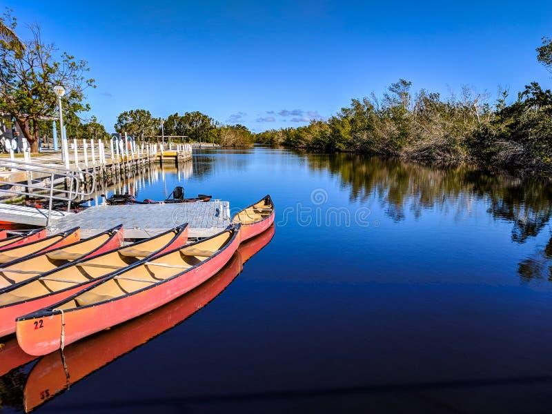 Kano's op de rivier royalty-vrije stock fotografie