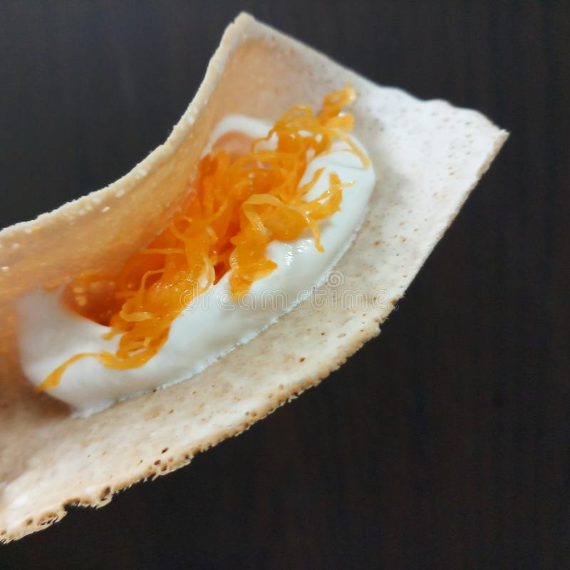Thai crepes Kanom Bueang stock photography