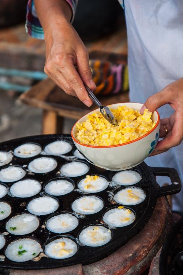 Kanom Krok , Kind Of Thai Sweetmeat Royalty Free Stock Photography