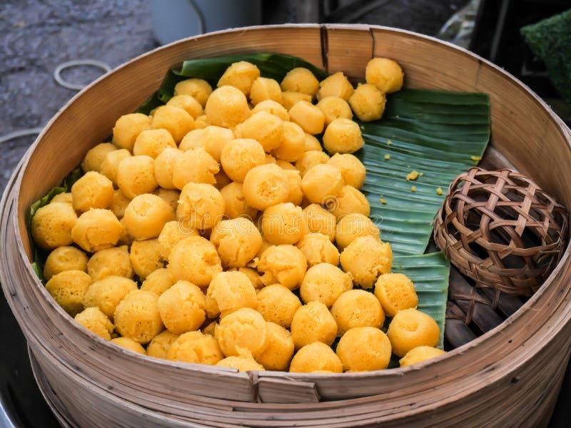 Kanom Tarn, sobremesa tradicional tailandesa imagem de stock