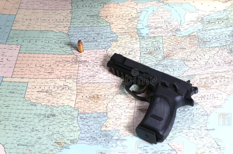 Download Kanon Amerika stock foto. Afbeelding bestaande uit pistool - 29507904