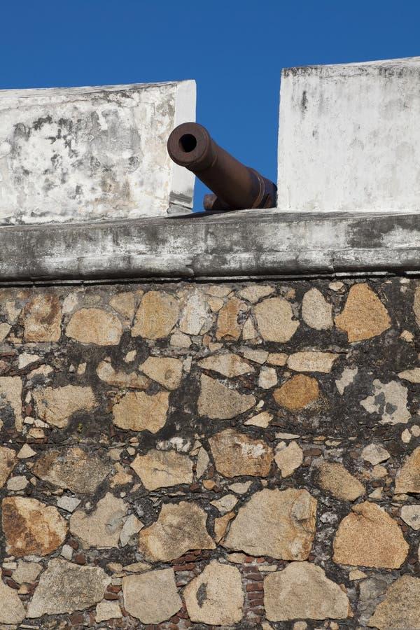 Kanon bij Fort royalty-vrije stock foto