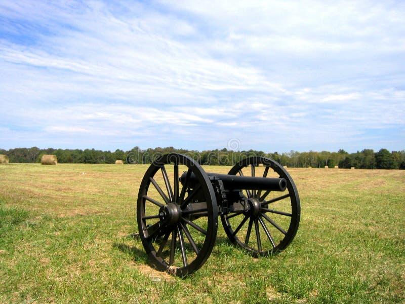 Kanon in Chickamauga royalty-vrije stock foto