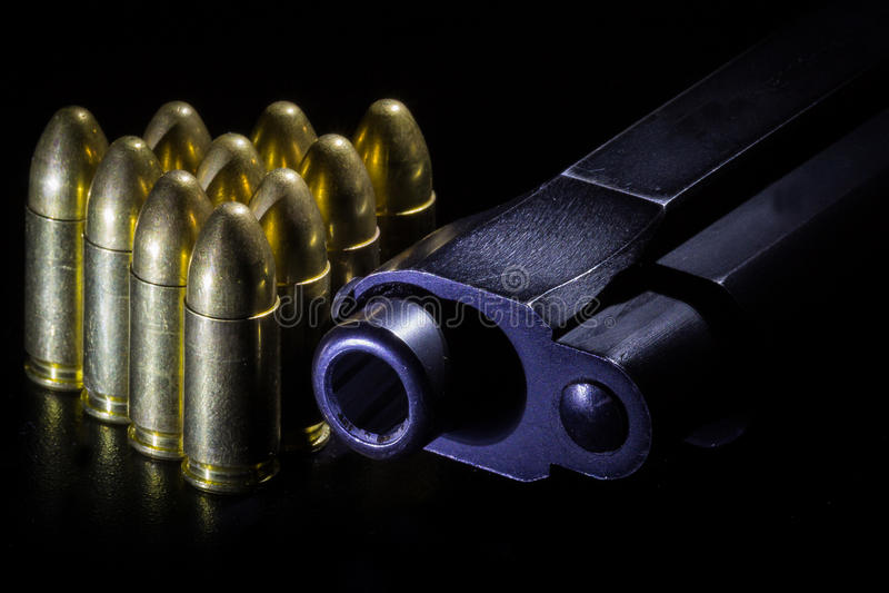 Kanon en kogels stock foto