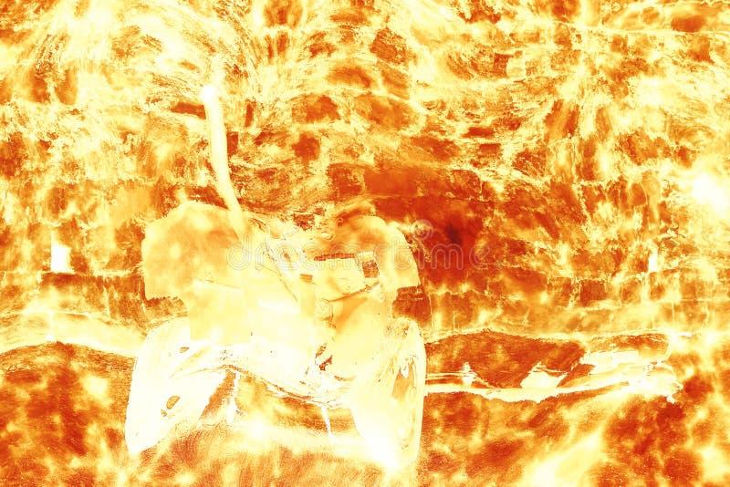 Kanon in explosie stock illustratie