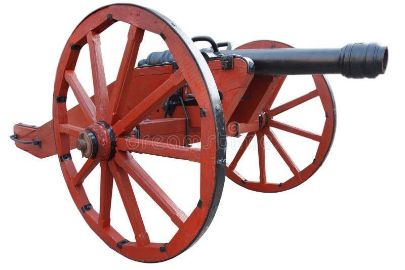 kanon f?r artilleri f?r gammalt krut f?r tappning r?tt stolpe-medeltida fotografering för bildbyråer