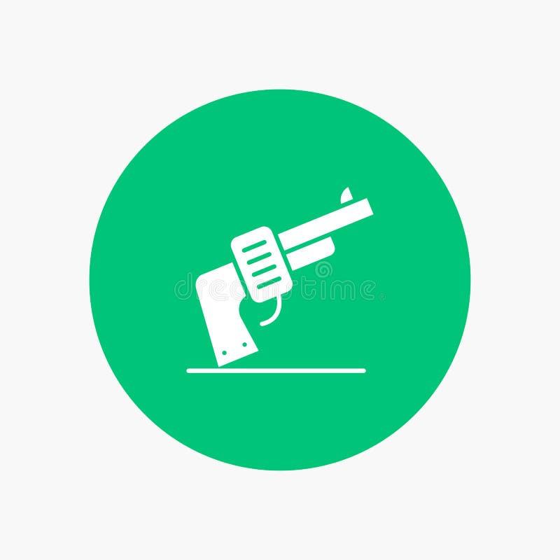 Kanon, Hand, Amerikaans Wapen, stock illustratie