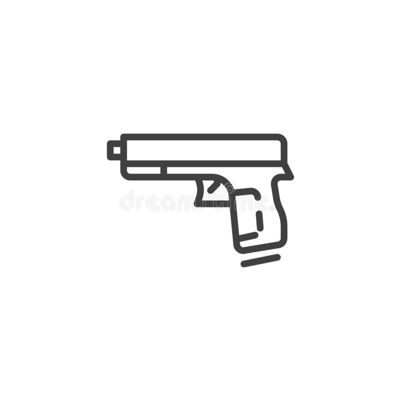 Kanon, het pictogram van de pistoollijn royalty-vrije illustratie