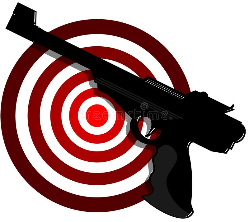 Kanon met doel vector illustratie