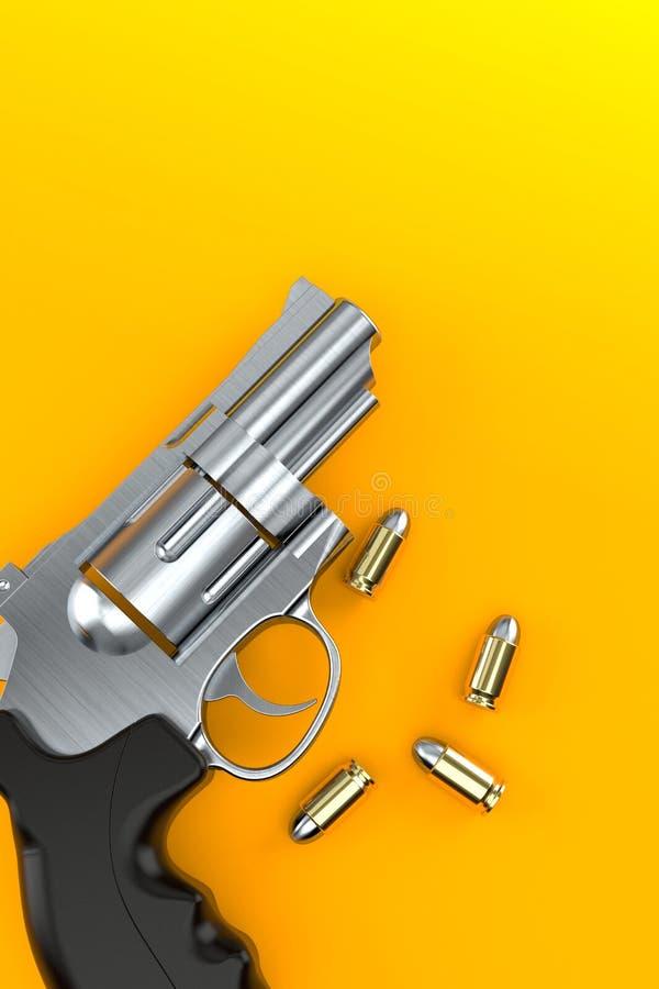 Kanon met Kogels stock illustratie