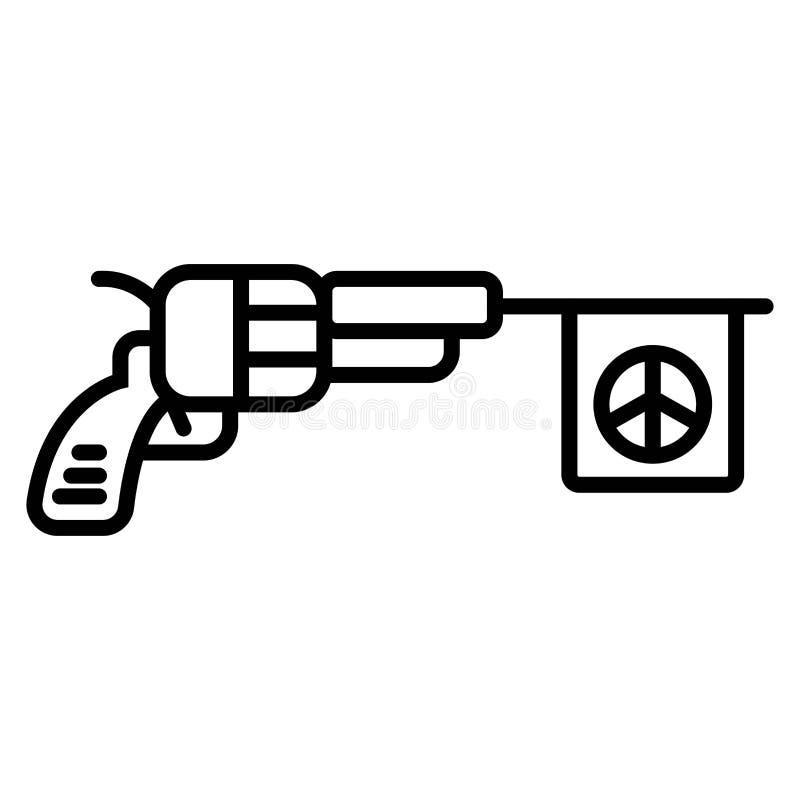 Kanon met vlagstuk speelgoed vector illustratie