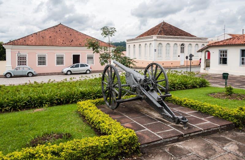 Kanon på Lapa Parana Brasilien royaltyfria bilder