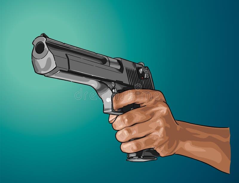 Kanon ter beschikking - hand getrokken die vector, op kleur wordt geïsoleerd stock illustratie