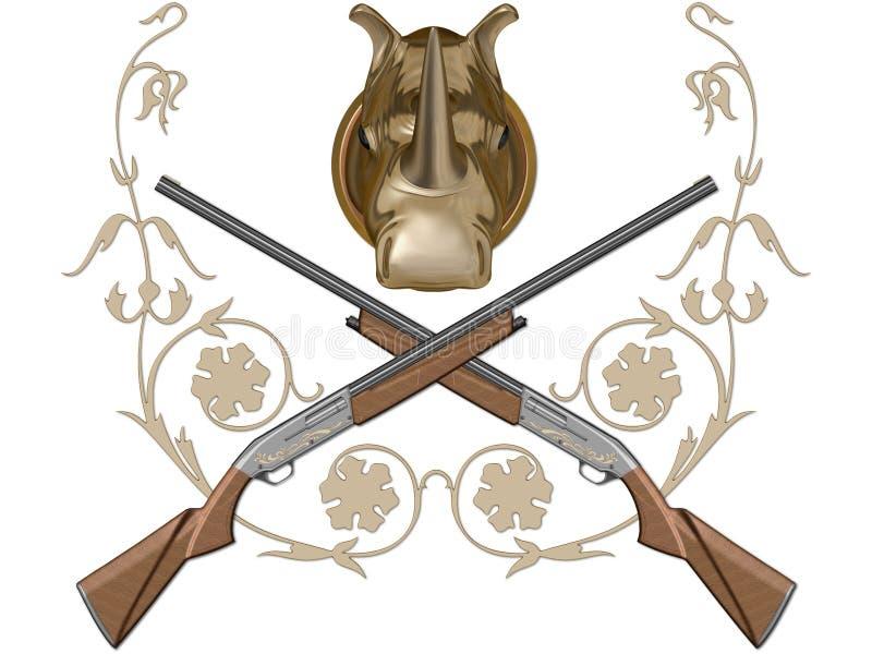 Kanon van de jacht stock illustratie