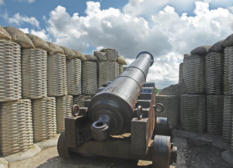 Kanon van oorlog van 1854 stock foto's