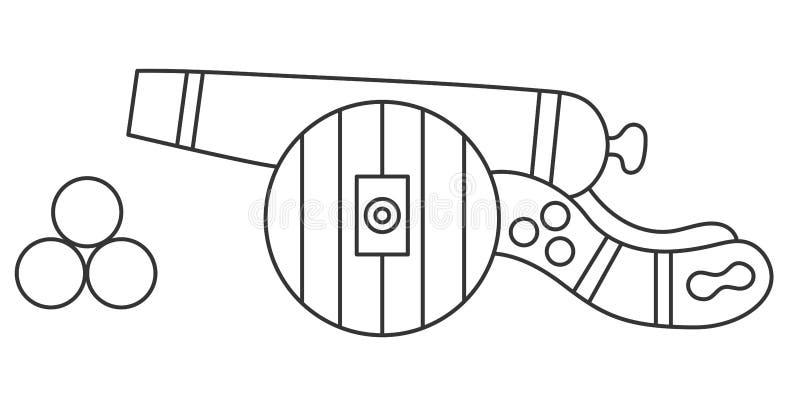 Kanon vectorpictogram royalty-vrije illustratie