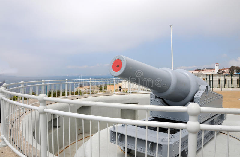 Kanone am Europa-Punkt lizenzfreie stockfotografie