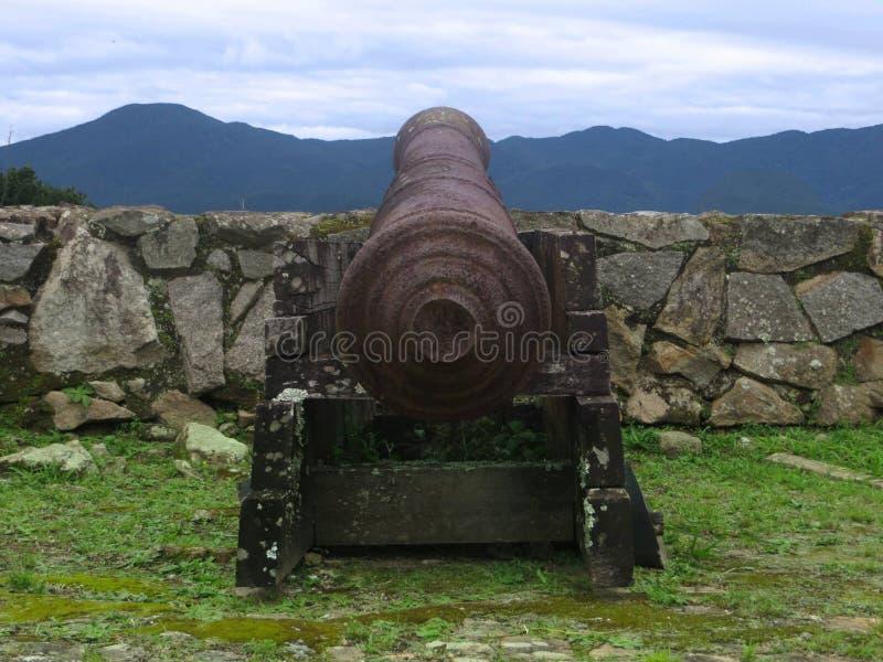 Kanone, Strand der Stärke, Sc Brasilien lizenzfreie stockbilder