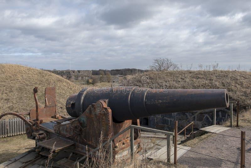 Kanonen-Suomenlinna-Seefestung Helsinki stockfotografie