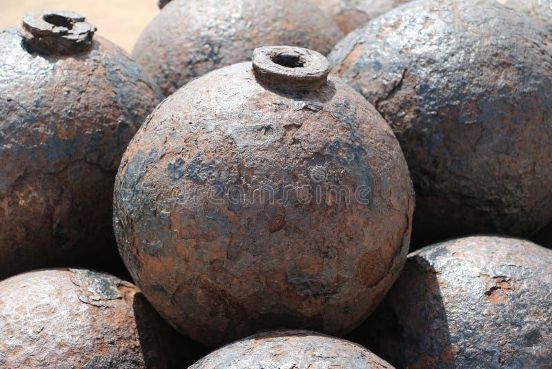 Kanonenkugel in EL Morro lizenzfreies stockbild