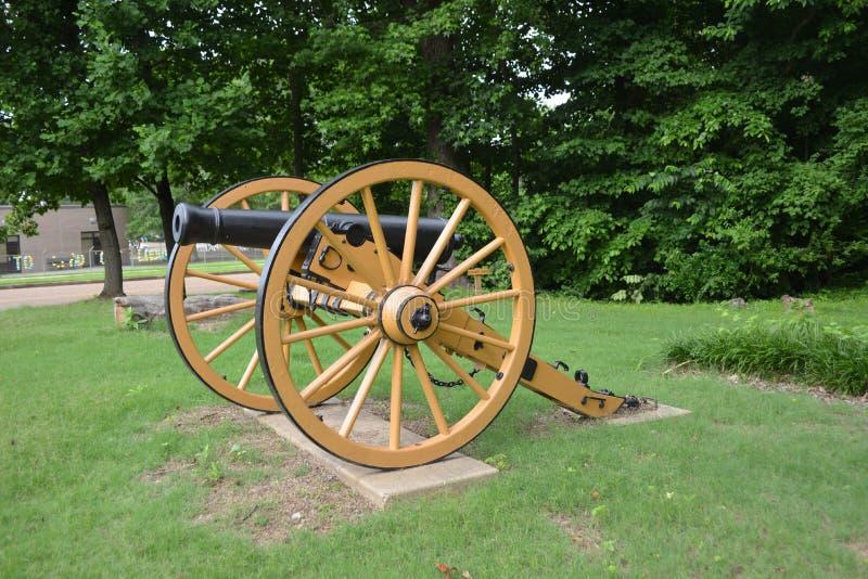 Kanonenkugel-Gewehr vom Bürgerkrieg stockfoto