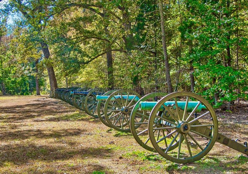 Kanonerna på Shiloh, Tennessee royaltyfri foto