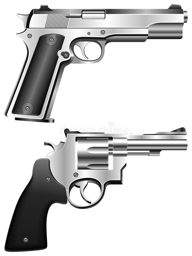 Kanonnen. stock illustratie