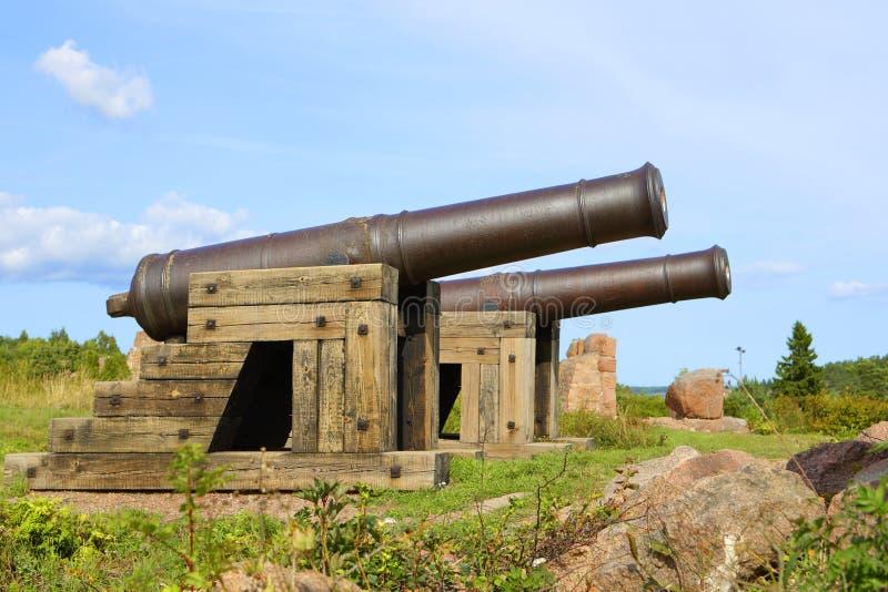 Kanonnen in Aland-Eilanden royalty-vrije stock afbeelding
