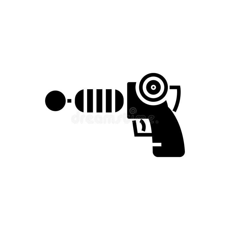Kanonplasma - sterrenoorlogpictogram, vectorillustratie, zwart teken op geïsoleerde achtergrond royalty-vrije illustratie