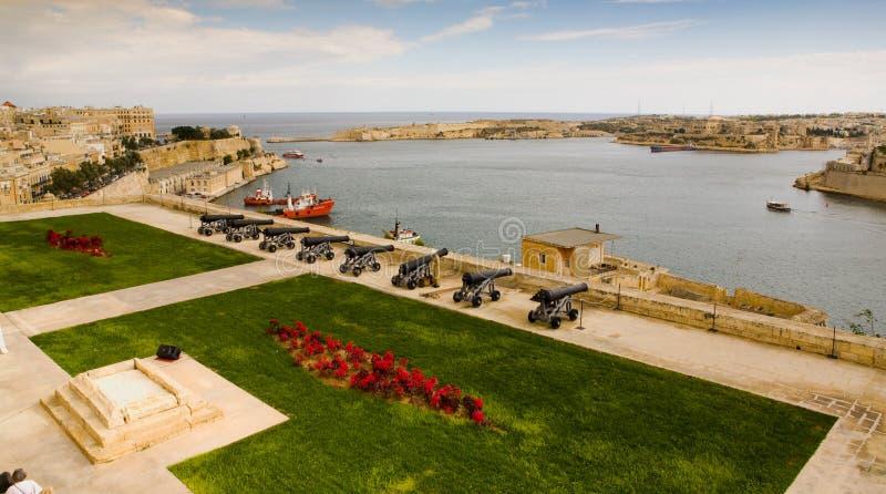 kanony przesyłają target2489_1_ Valletta fotografia stock