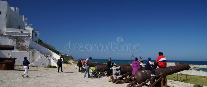 Kanony Tangier, Maroko fotografia stock