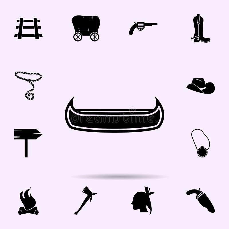 Kanopictogram het wilde voor Web wordt geplaatst en mobiele algemene begrip van het westen materi?le die pictogrammen royalty-vrije illustratie