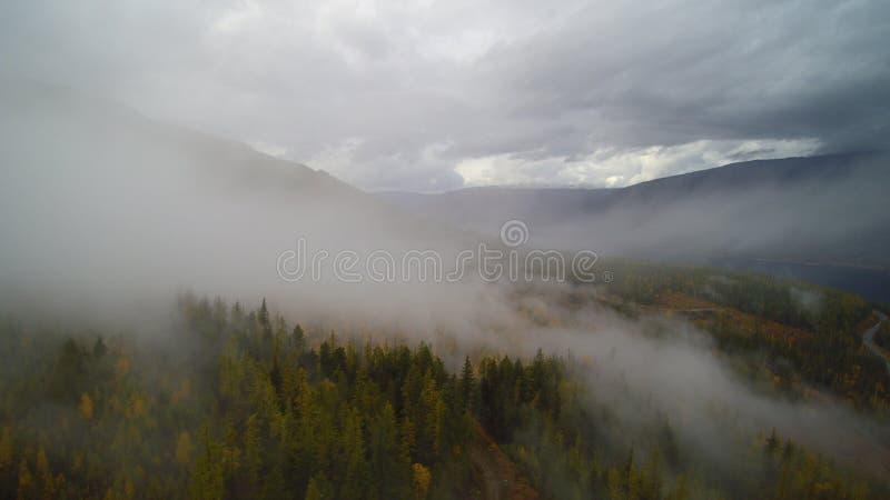 Kanot British Columbia - Misty Mt ida royaltyfria bilder