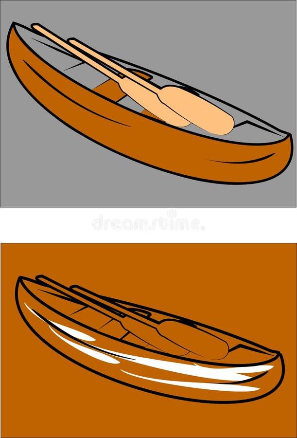kanoter royaltyfri illustrationer