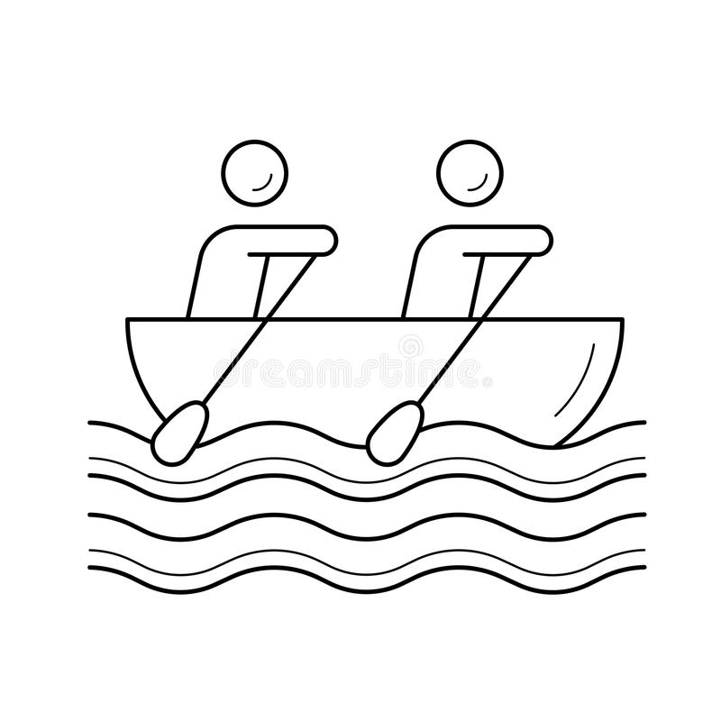 Kanotroddlinje symbol stock illustrationer