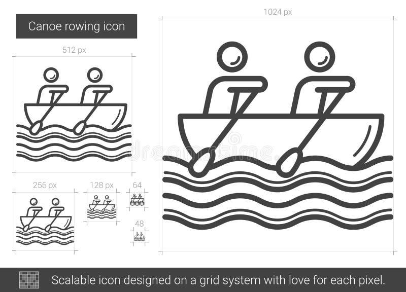 Kanotroddlinje symbol vektor illustrationer