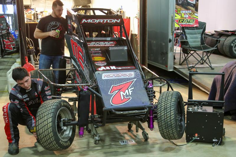 Kans Morton bij 2019 Chili Bowl Nationals royalty-vrije stock foto