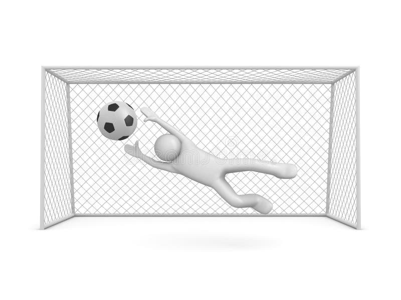 Kans om in voetbal te noteren vector illustratie