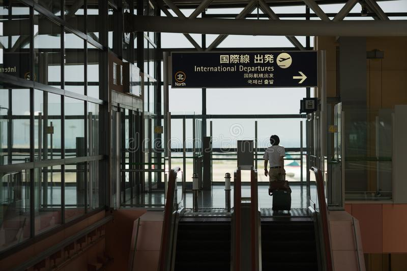 Kansai flygplats, Japan arkivfoto