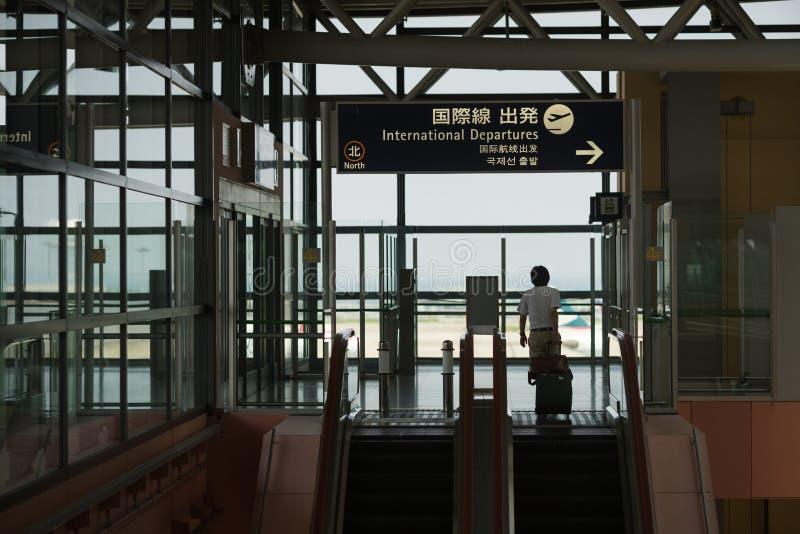 Kansai Luchthaven, Japan stock foto