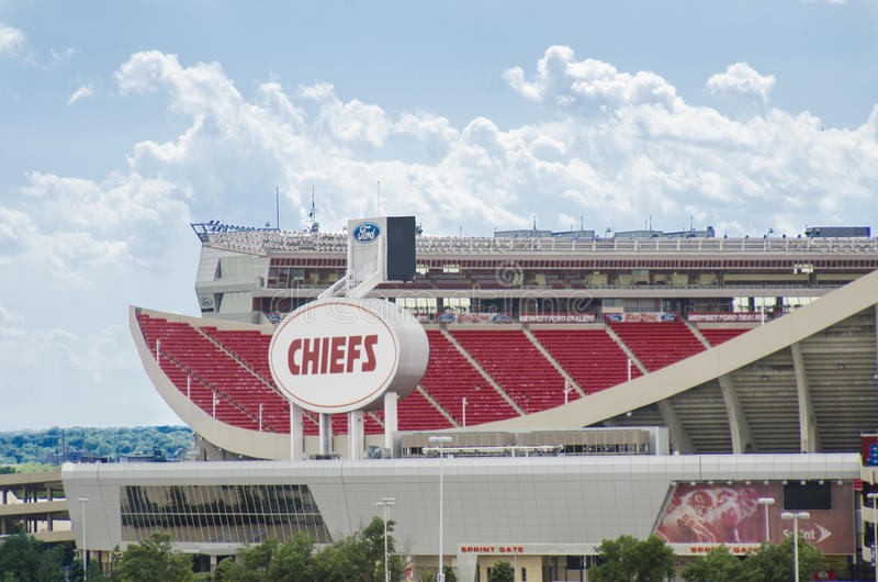 Kansas City Chiefs Beautiful Stadium royalty free stock photo
